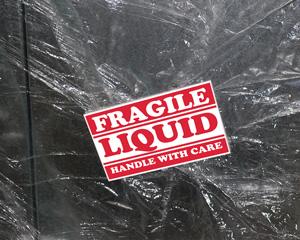 Fragile Liquid Handle with Care Label