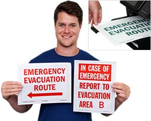 Free Evacuation Signs
