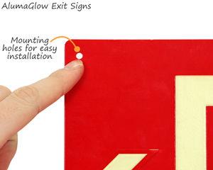 Glow aluminum exit signs