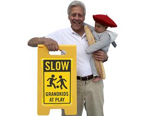 Grandkids at play sign