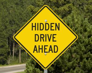 Hidden drive sign