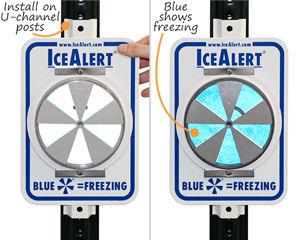 Ice Alert Signage