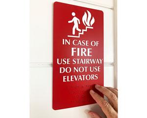 Door exit sign
