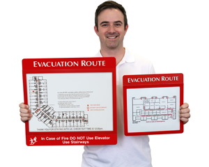 Large Evacuation Map Holders