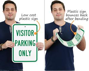 Plastic parking sign