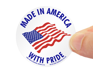 Made In America With Pride Label