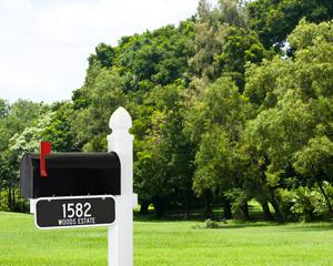 Mailbox address sign