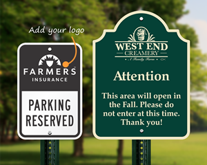 Metal signs with your logo