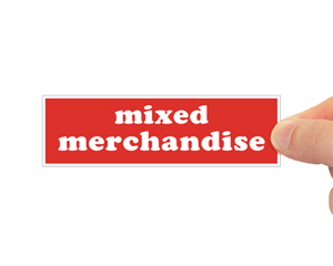 Mixed Merchandise Label