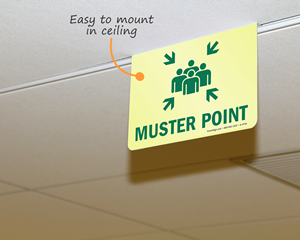 Muster poing sign for ceiling