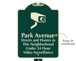 Neighborhood surveillance sign