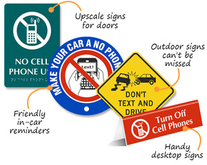 No Cell Phone Signs