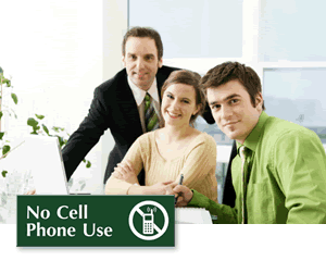 No Cell Phone Signs for Office