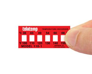 Non-Reversible Temperature Indicator Label