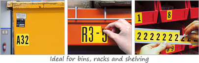 number and letter labels used in a warehouse