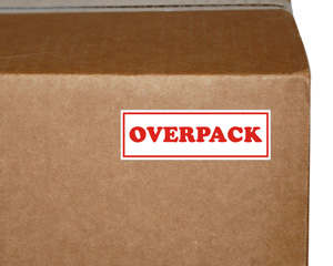 Overpack Packing Labels