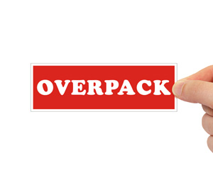 Overpack Red Packing Labels