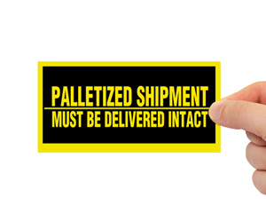 alletized Shipment Must be Delivered Intact Label