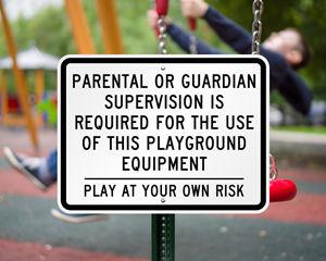 Playground sign
