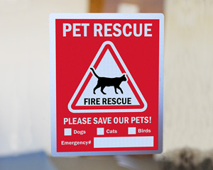 Pet Alert Fire Rescue Decal