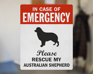 Pet Australian Shepherd Label