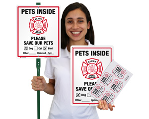Pet Rescue Stickers and Signs