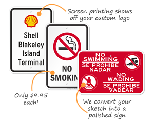 Plastic parking signs