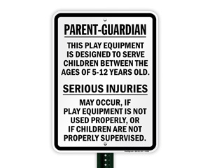 Playground Surveillance Sign