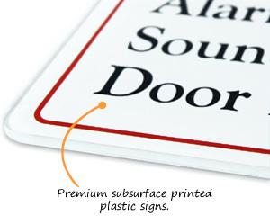 Premium Subsurface Printed Plastic Signs