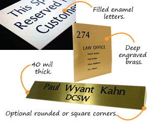 Quotation for Custom Brass Signs