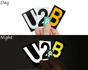 Reflective house number stickers