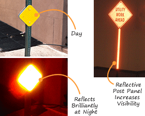 Increase reflective visibility in intersections.