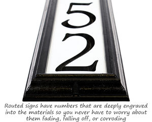 Night Bright Reflective Address Sign