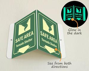 Safe area shelter sign