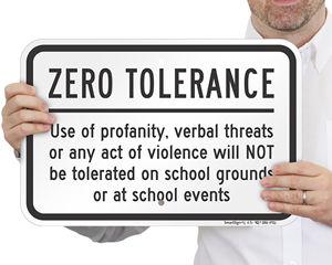 School Playground Sign