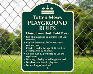 Custom Signature™  Playground Signs