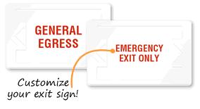 Custom Exit Signs