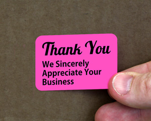 Thank You Grab a Label