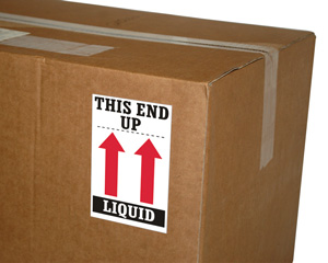 This End up Liquid Shipping Label