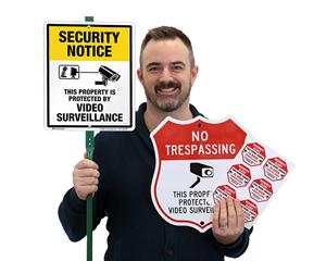 Video Surveillance Signs - Doors & Windows