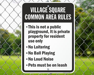 Custom Playground Sign