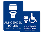 All-Gender Toilet Signs