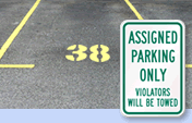 Assigned Parking Only