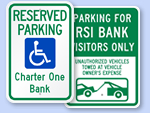 Custom Bank Parking Signs