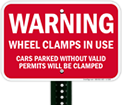 Clamped Wheel Signs