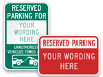 Custom Reserved Parking