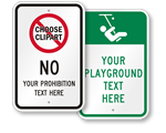 Custom School Playground Rules Signs