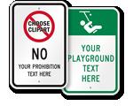 Custom School Playground Rules Signs