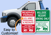 Customize Your Tow Sign