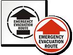 Evacuation Route Floor Signs & Stencils